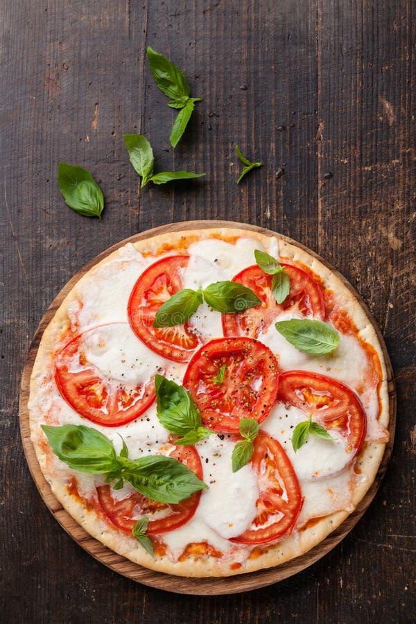 Pizza Caprese immagini stock
