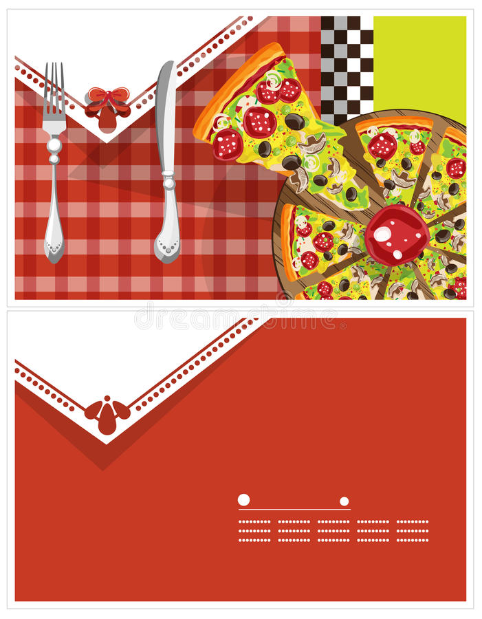 Pizza Card royalty free illustration