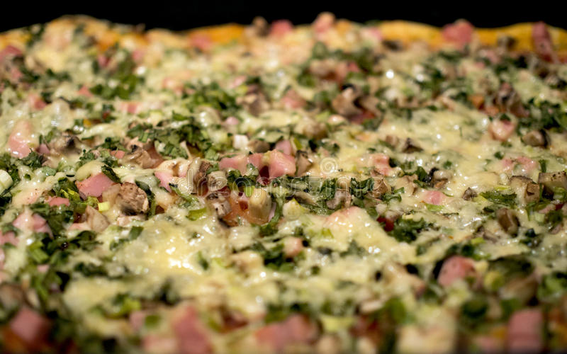 pizza Casa-feita imagem de stock royalty free