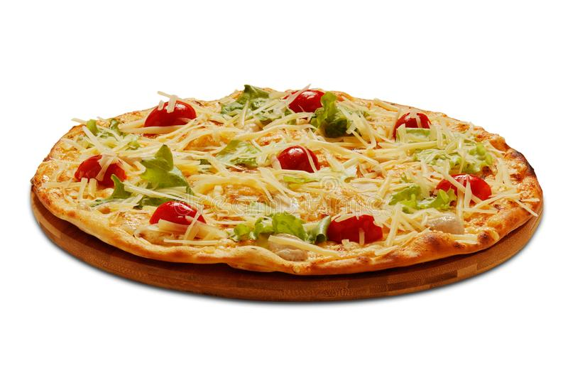Pizza Cessar Auf weißem Hintergrund lizenzfreies stockbild