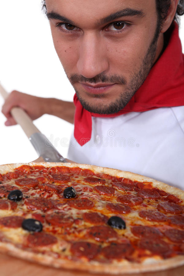 Free Pizza Chef Royalty Free Stock Images - 27810789