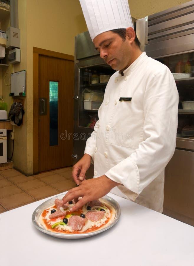 Pizza-Chef lizenzfreie stockfotografie