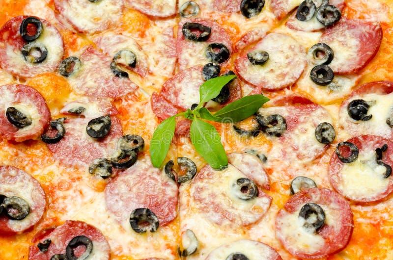 Pizza, closeup stock image