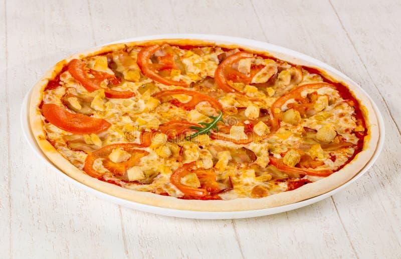 Pizza com bacon imagens de stock