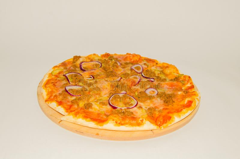 Pizza com carne triturada imagem de stock royalty free