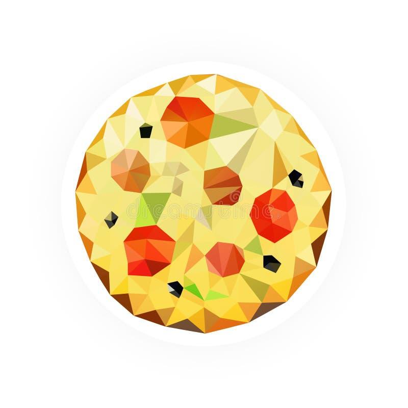Pizza com espaço para seu texto ilustração royalty free