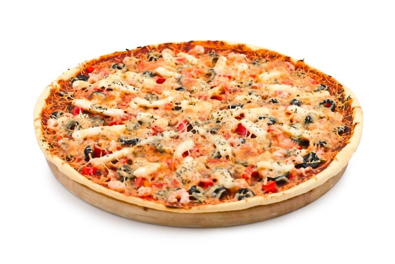 Pizza com marisco fotos de stock