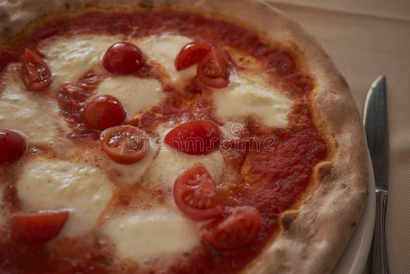 Pizza com mussarela do búfalo imagens de stock royalty free