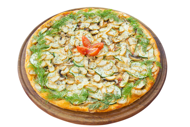 Pizza con i funghi fotografia stock