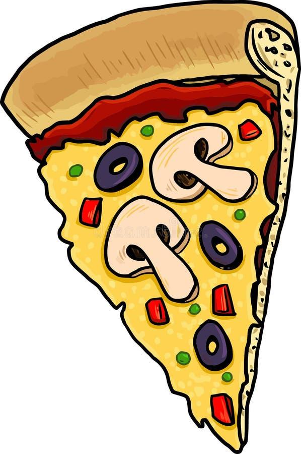 Pizza con las setas imagen de archivo libre de regalías