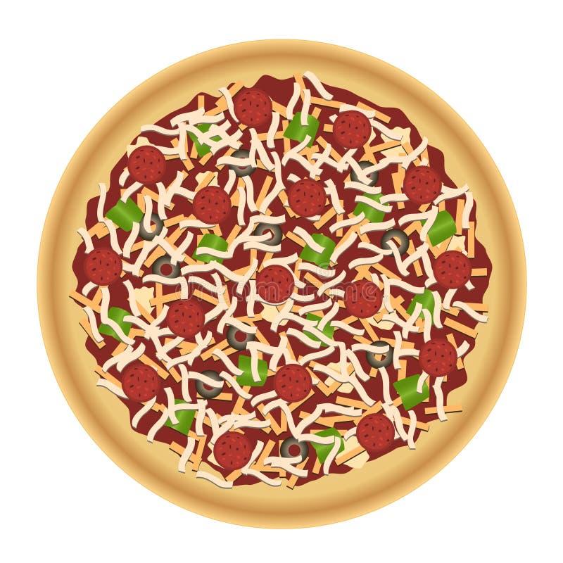 Pizza con los desmoches libre illustration