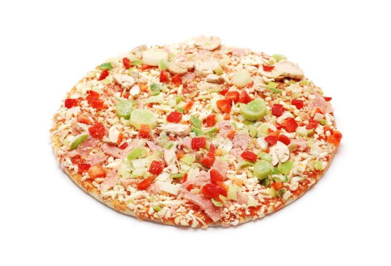 Pizza congelada imagem de stock