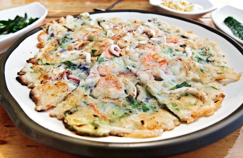 Pizza coreana do estilo imagens de stock royalty free