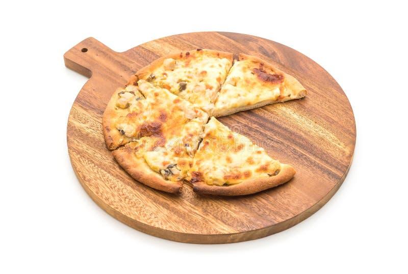 pizza cremosa de la seta imagen de archivo libre de regalías