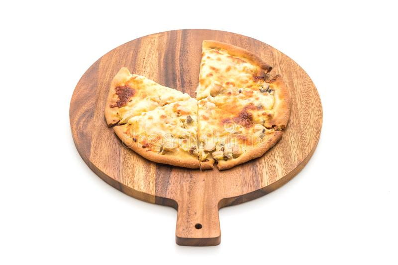pizza cremosa de la seta foto de archivo libre de regalías