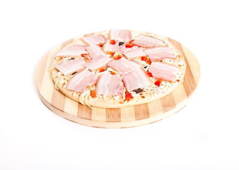 Pizza crue images libres de droits