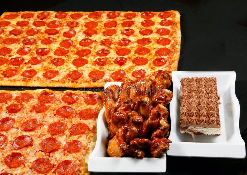 Pizza cuadrada combinada foto de archivo