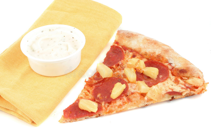 pizza d'ananas de pepperoni photographie stock