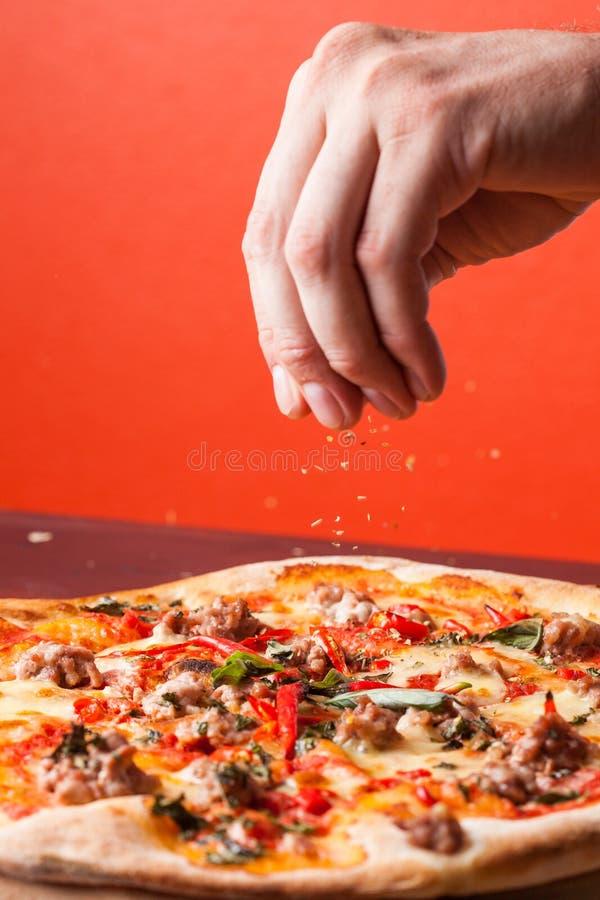 Pizza d'Italien de fruits de mer photographie stock libre de droits
