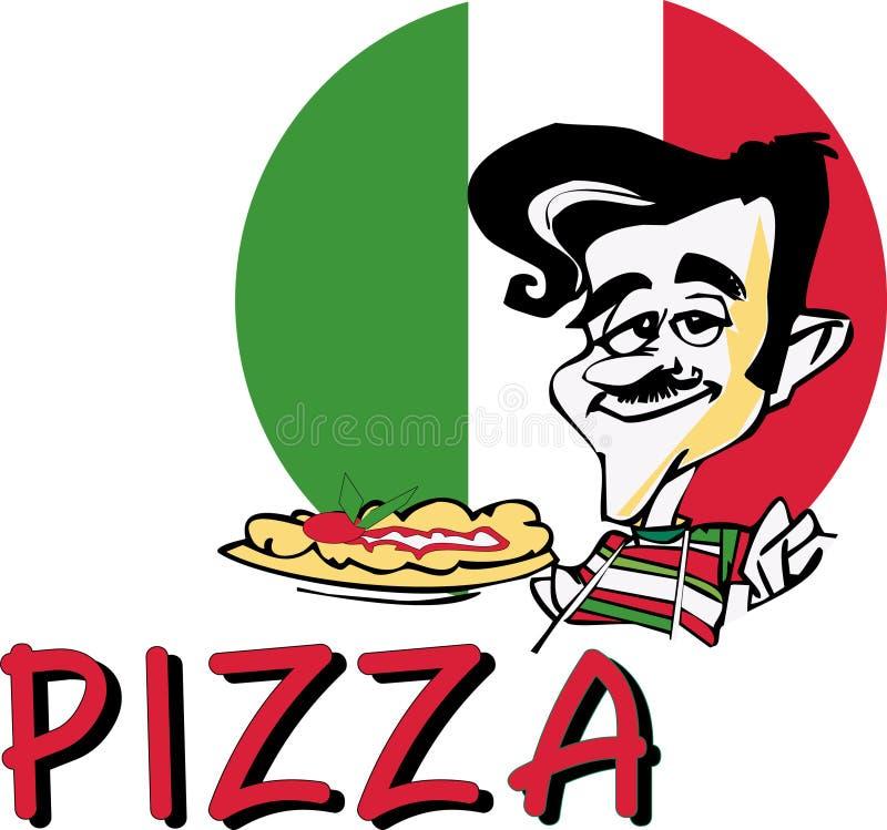 Pizza da SÉRIE do TRABALHO   ilustração do vetor