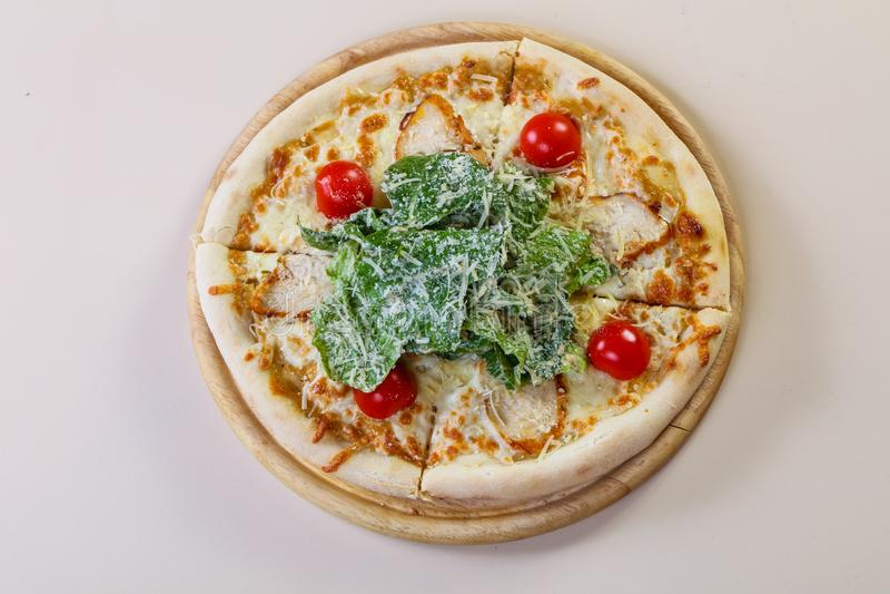 Pizza de César avec du fromage photographie stock