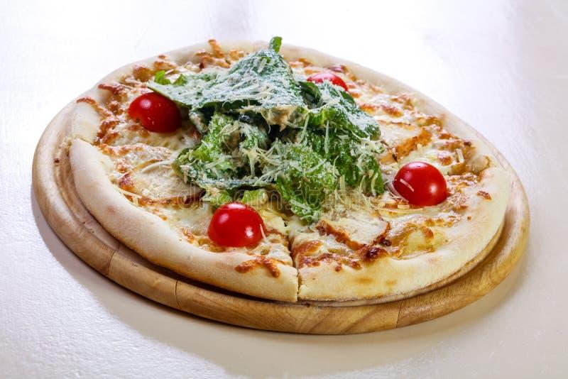 Pizza de César avec du fromage images stock