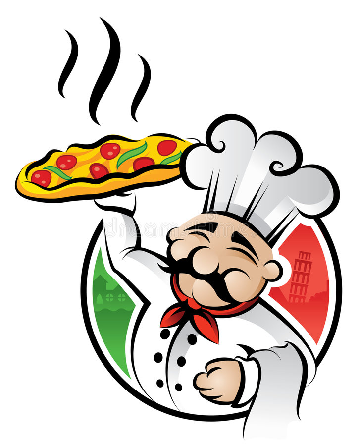 pizza de chef illustration libre de droits