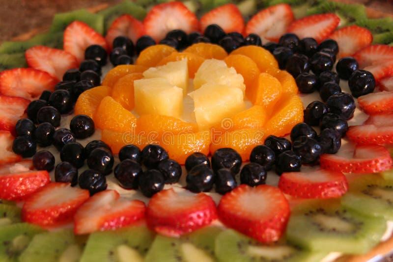 Pizza de fruit images stock