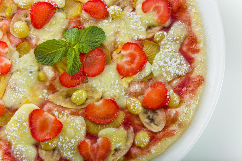 Pizza de fruit image stock
