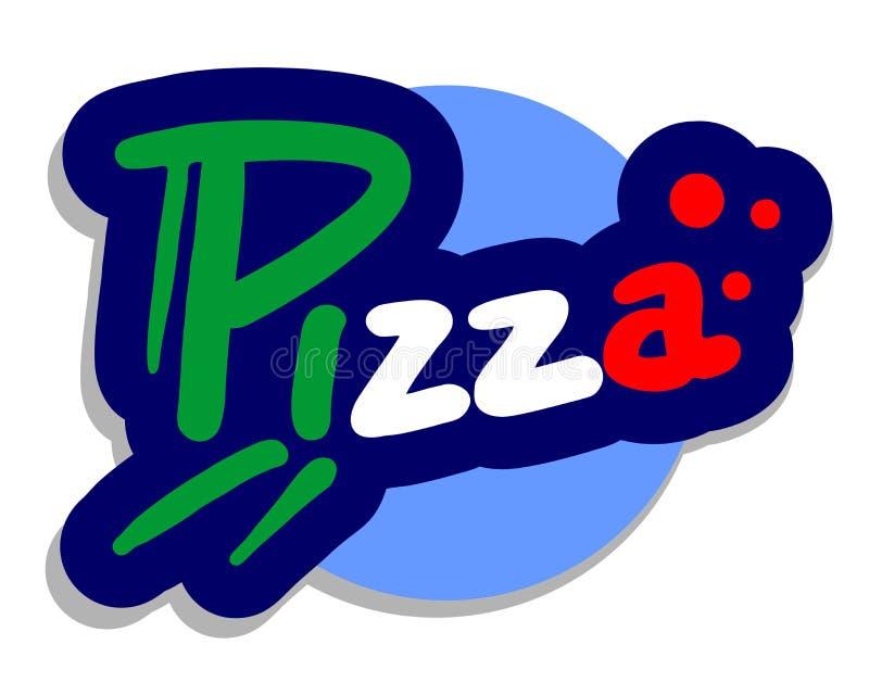 Pizza de graphisme illustration de vecteur