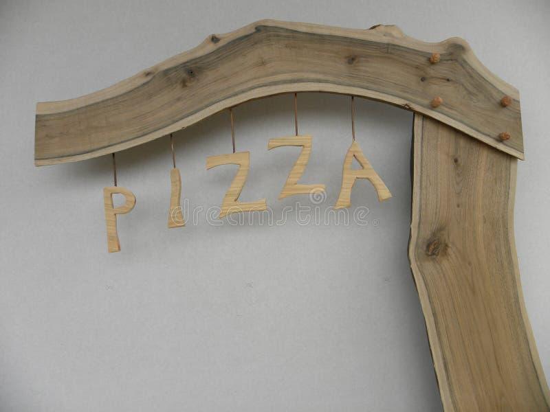 Pizza de la cartelera foto de archivo libre de regalías