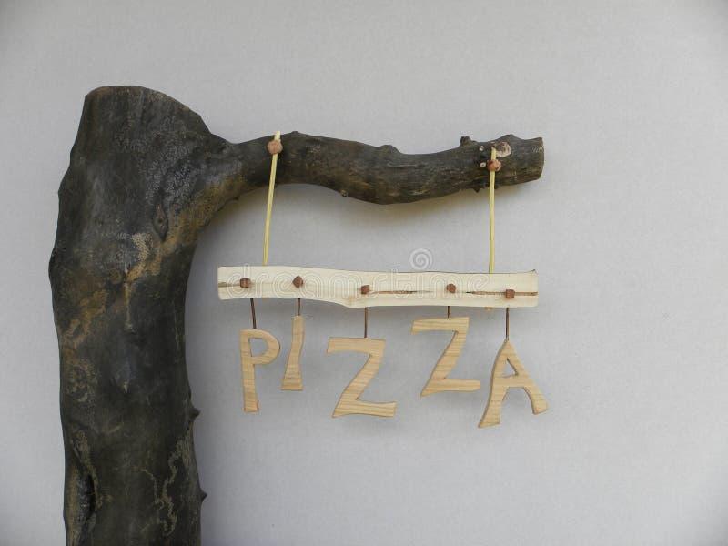 Pizza de la cartelera foto de archivo