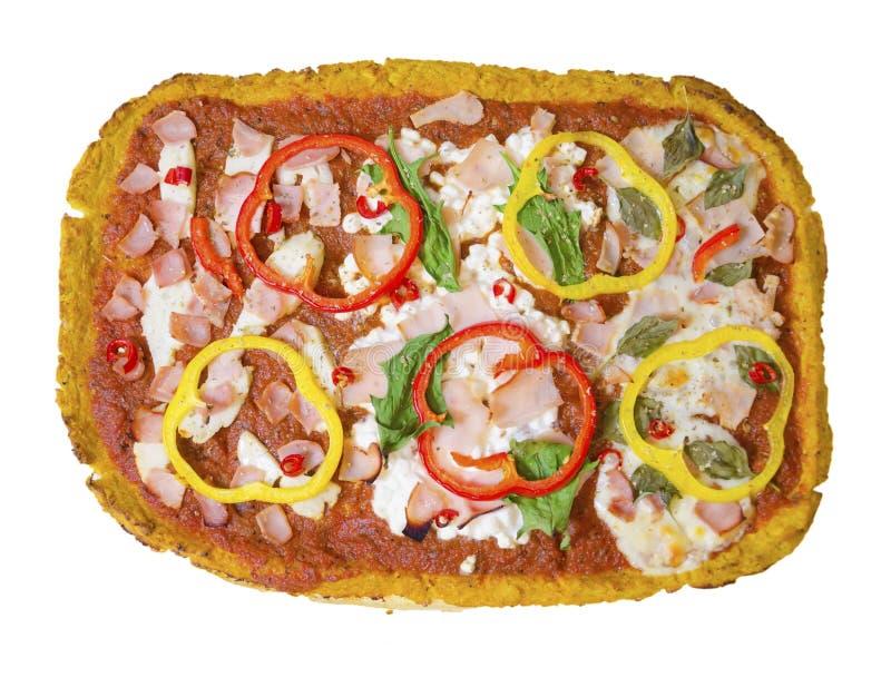 Pizza de la coliflor imagen de archivo libre de regalías