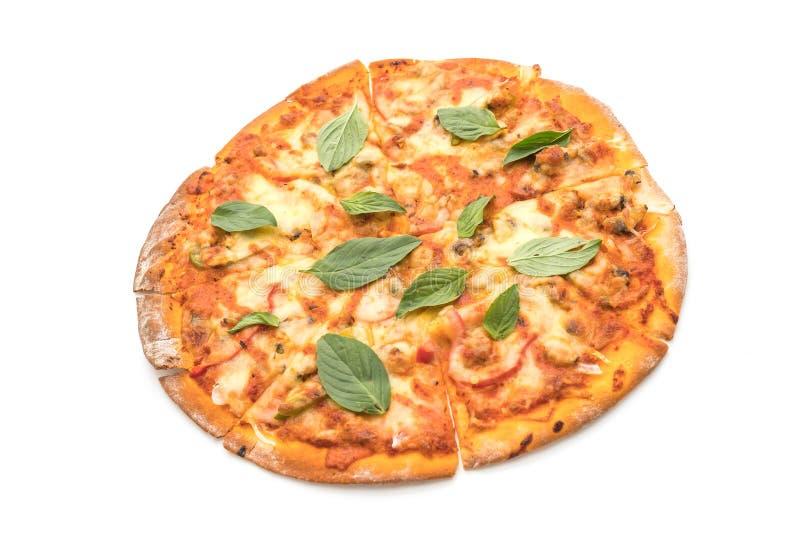Pizza de las almejas - comida italiana foto de archivo libre de regalías