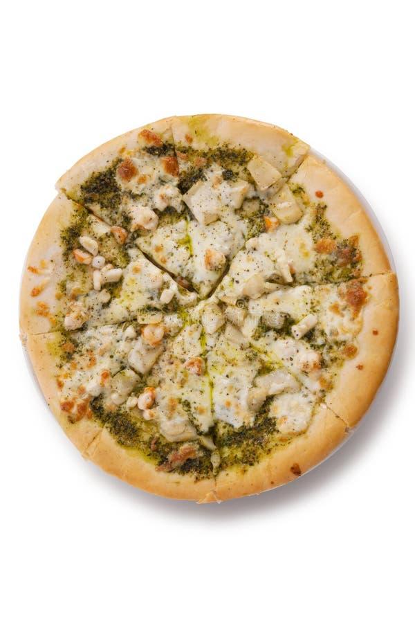 Pizza de los mariscos imagenes de archivo