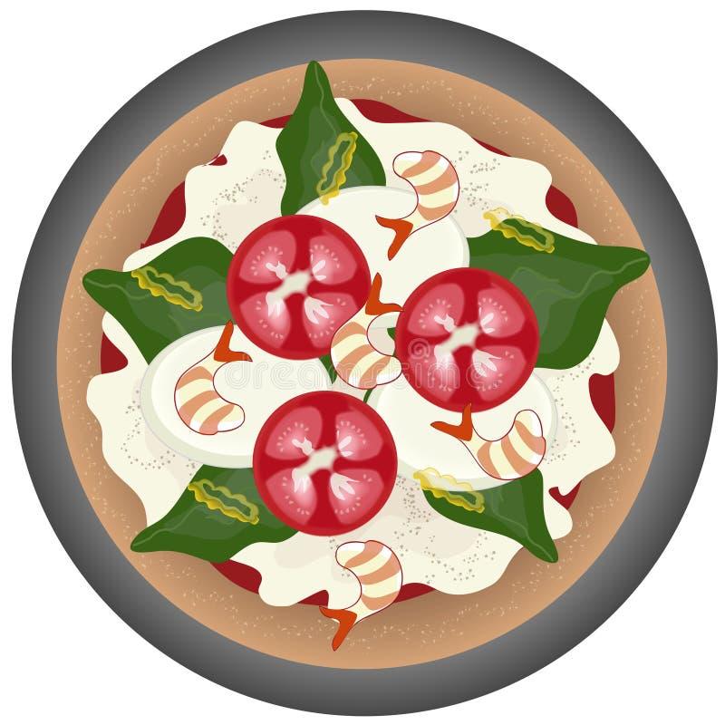 Pizza de Margarita illustration stock