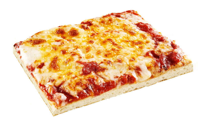 Pizza de Margherita delicioso ou de três queijos imagem de stock royalty free