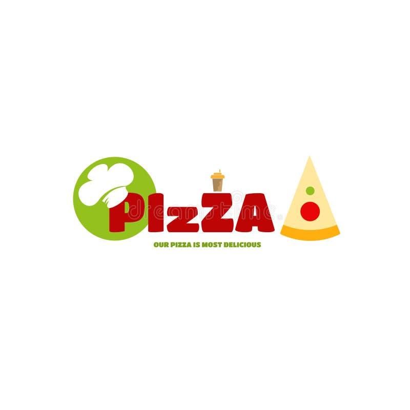 Pizza de menu de logo pour le style individuel de vos affaires photos stock