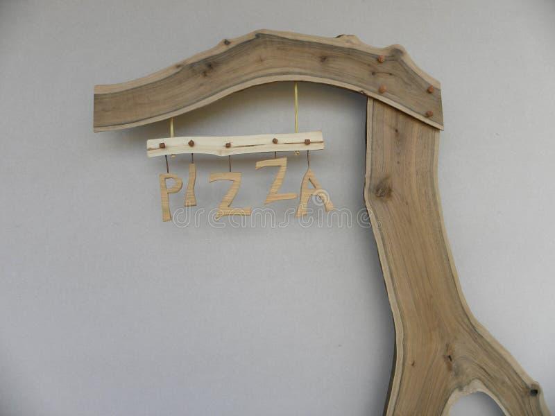 Pizza de panneau d'affichage photo libre de droits