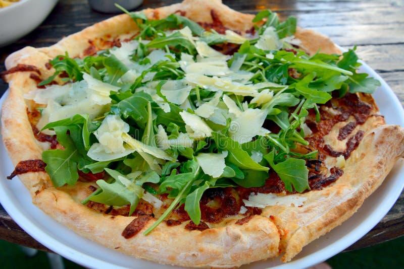 Pizza de Parma dos di do Prosciutto imagem de stock royalty free