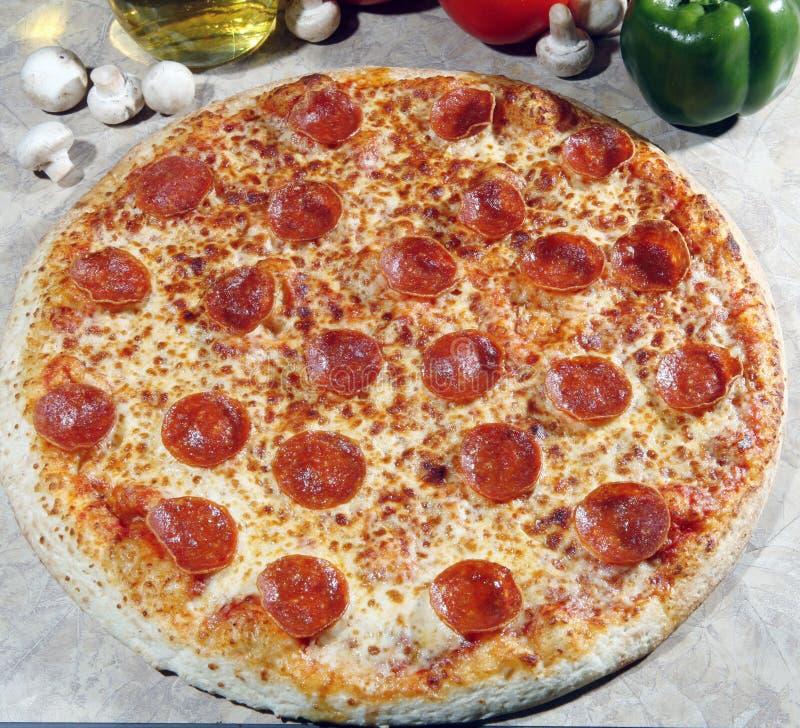 Pizza de pepperoni photo libre de droits