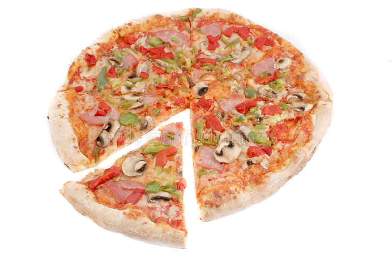 pizza de poivre de jambon images stock