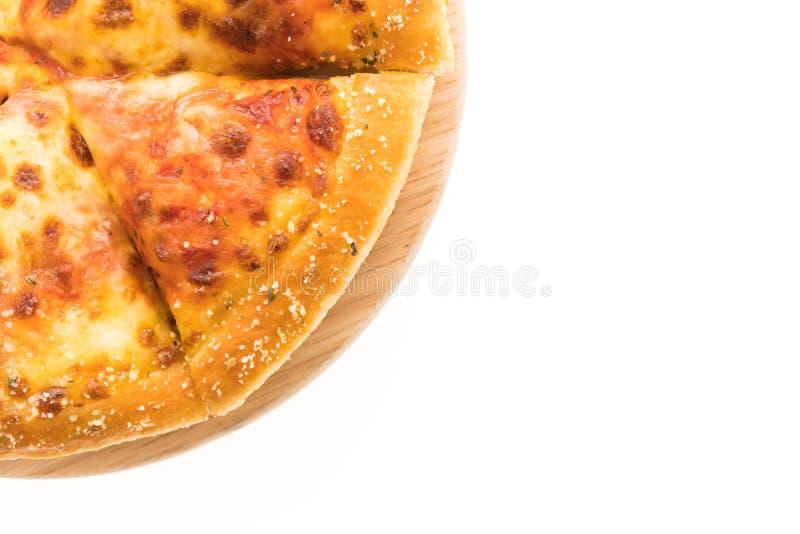Pizza de queijo fotografia de stock