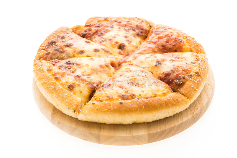 Pizza de queijo fotografia de stock royalty free