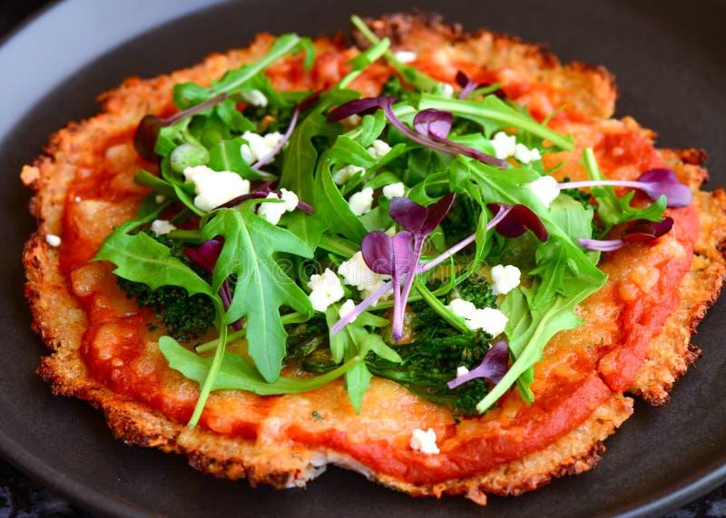pizza de queso Gluten-libre fotos de archivo libres de regalías