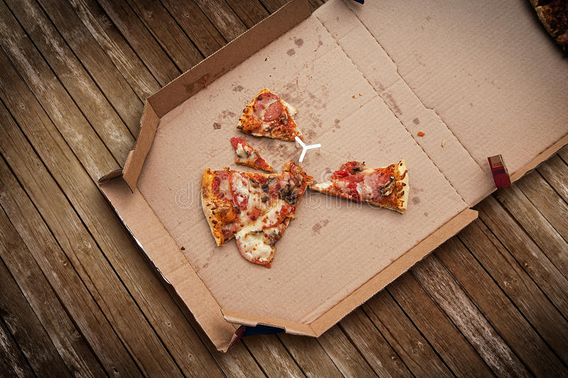 Pizza de sobra imagen de archivo