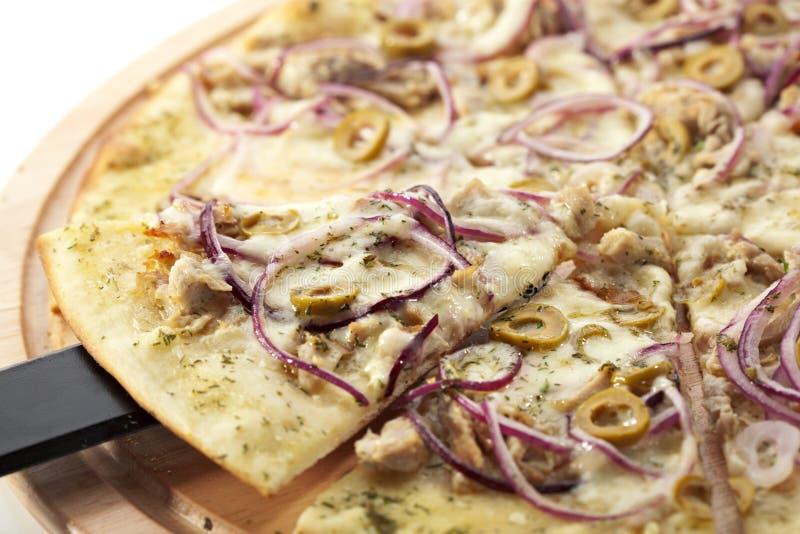 Pizza de thon photographie stock libre de droits