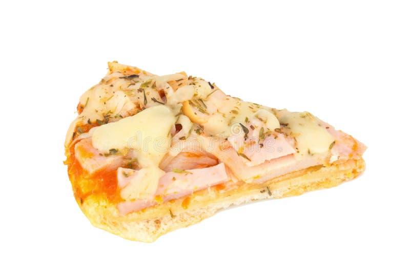 Pizza de pizza van de de moederkok van Thailand voor childern geïsoleerd op wit stock afbeelding