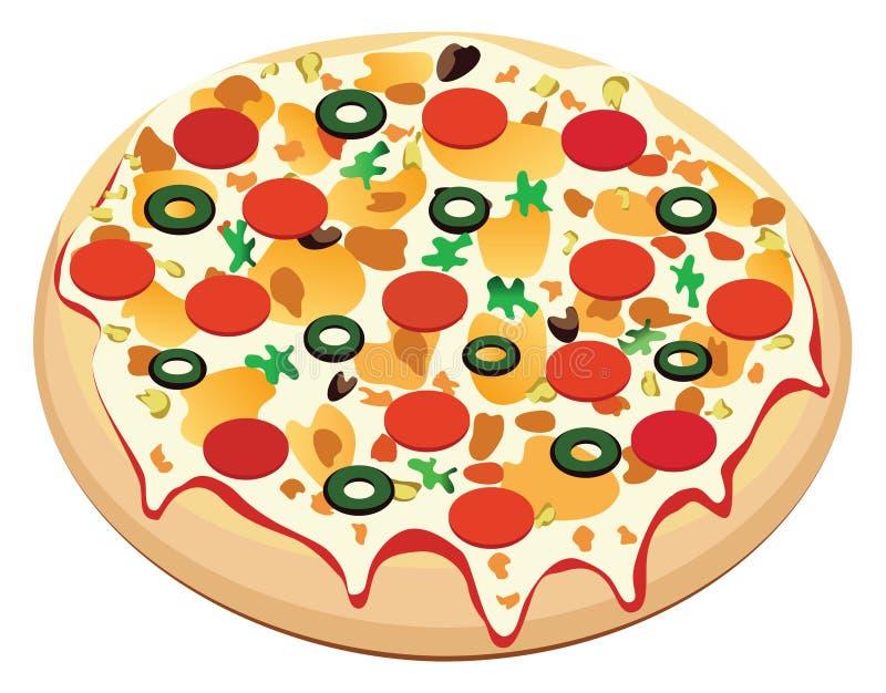 Pizza de vecteur illustration stock