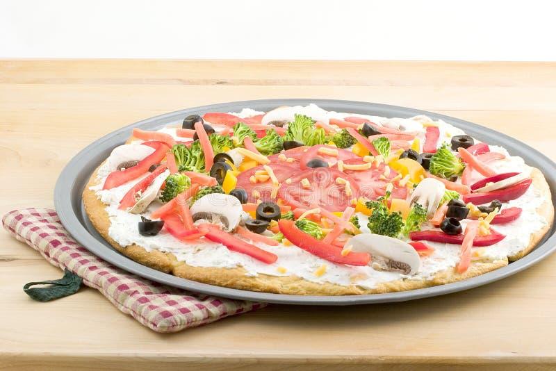Pizza, de zomergroente royalty-vrije stock afbeeldingen
